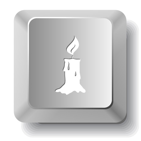 key board: Candle. Vector computer key. Illustration