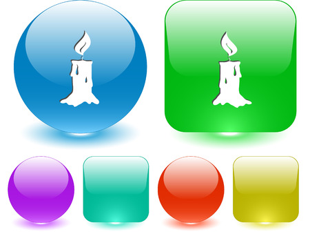 Candle. Vector interface element. Vector