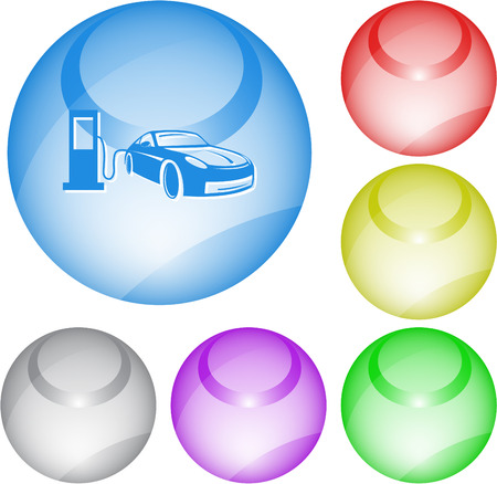 Car fueling. Vector interface element. Vector