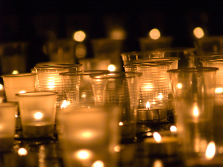 group of several candles photo
