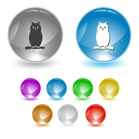 Owl interface element. Vector