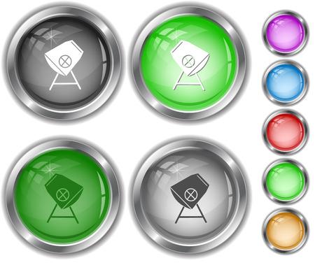 internet buttons: Concrete mixer. Internet buttons.
