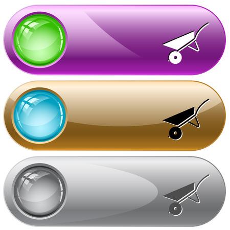 internet buttons: Wheelbarrow internet buttons.