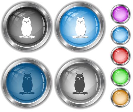 Owl. Internet buttons. Vector
