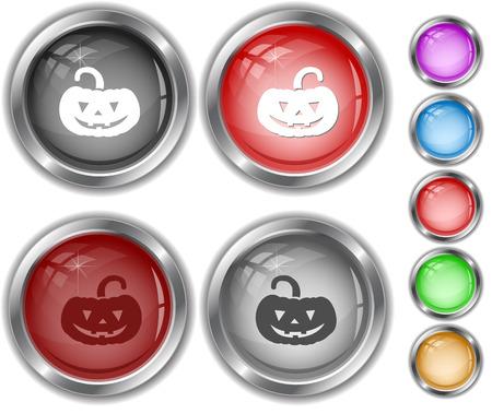 Pumpkin. Internet buttons. Vector
