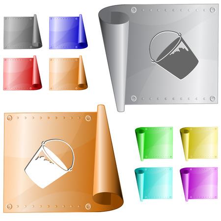 Bucket. Vector metal surface. Stock Vector - 30477963