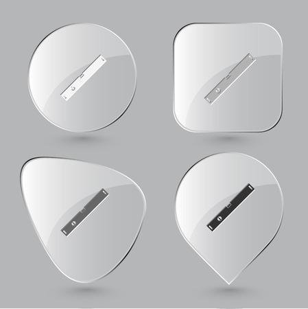 spirit level: Spirit level. Glass buttons. Vector illustration. Illustration