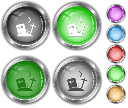 internet buttons: Rip. Internet buttons. Illustration
