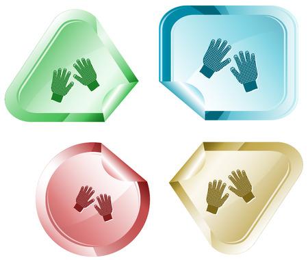 hamose: Gauntlets. Vector sticker. Illustration
