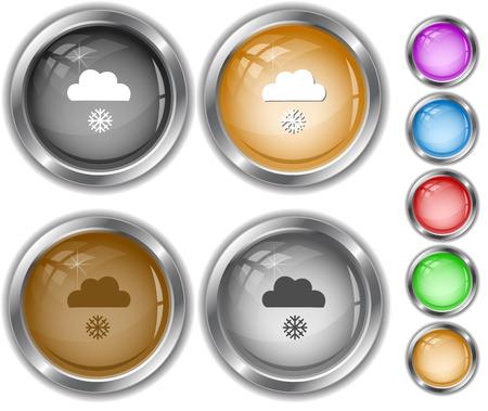 internet buttons: Snowfall. Internet buttons.
