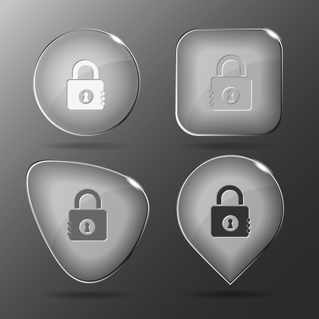 closed lock: Closed lock. Glass buttons. Vector illustration.