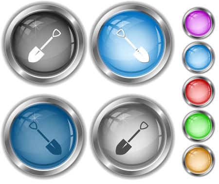 internet buttons: Spade. Internet buttons. Illustration