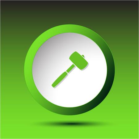 incurved: Mallet. Plastic button. Vector illustration. Illustration