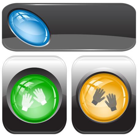Gauntlets. Vector internet buttons. Vector