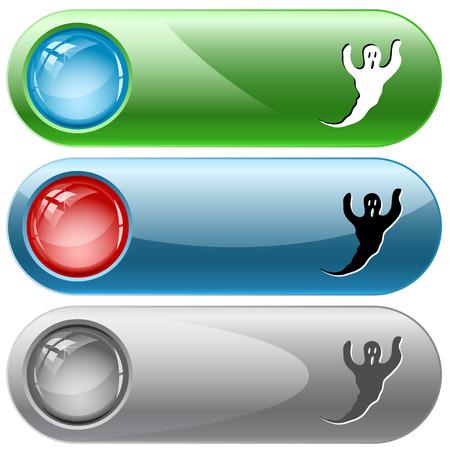 internet buttons: Ghost. Vector internet buttons.