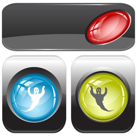 internet buttons: Ghost. internet buttons.