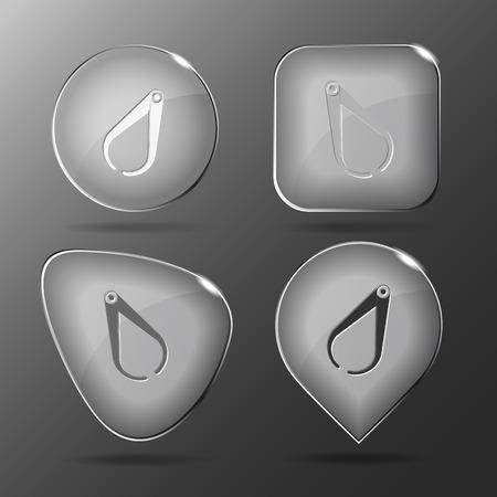 caliper: Caliper. Glass buttons.
