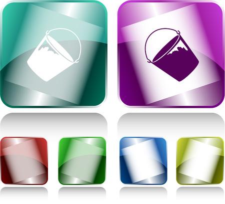 Bucket. Internet buttons. Vector illustration. Stock Vector - 30743377