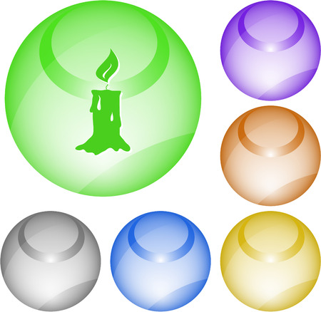 wax glossy: Candle. Vector interface element. Illustration