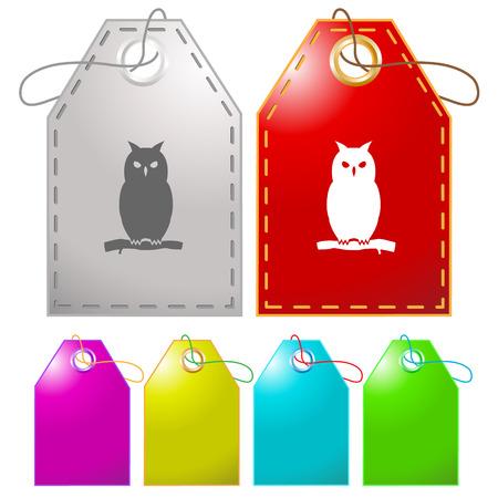 Owl. Vector tags. Vector