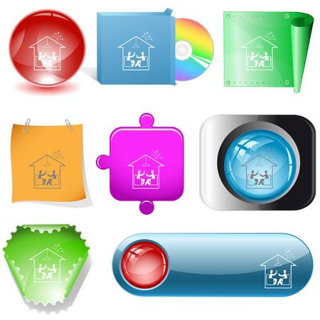 dvd room: Home celebration. internet buttons.