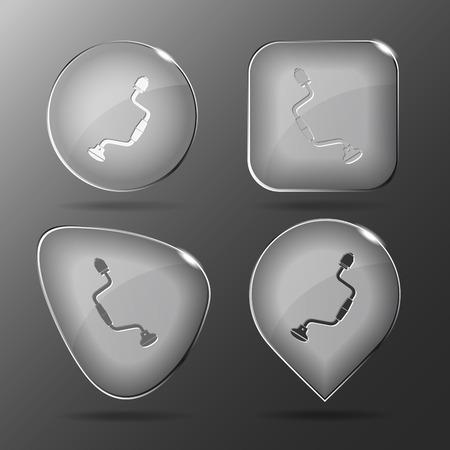hand drill: Hand drill. Glass buttons. Vector illustration. Illustration