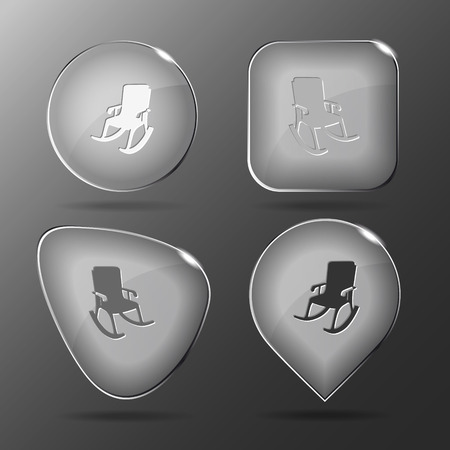 Armchair. Glass buttons. Vector illustration. Vector