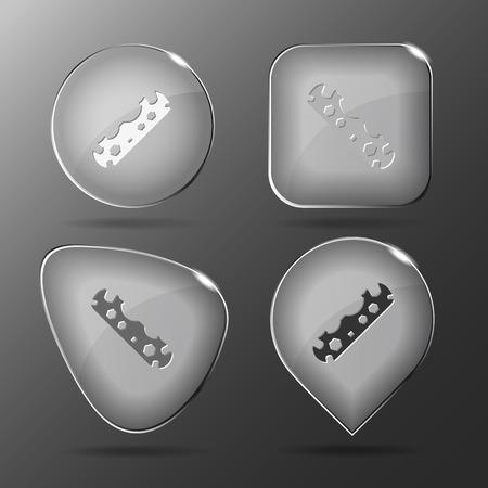 Glass buttons. Vector