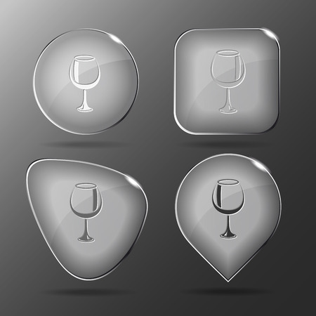 tumbler: Goblet. Glass buttons. Vector illustration. Illustration
