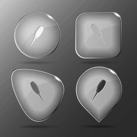 Awl in Glass buttons illustration. Vector