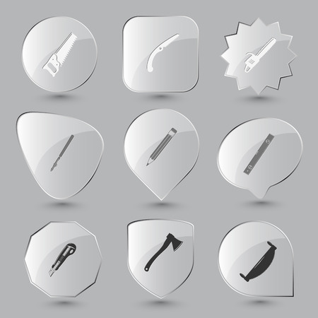 ruling: Angularly set. Vector glass buttons.