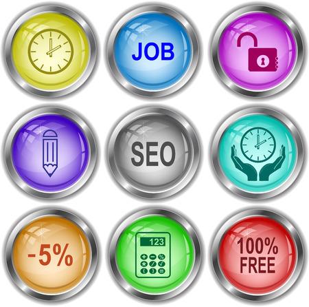 internet buttons: Business set. Vector internet buttons. Illustration