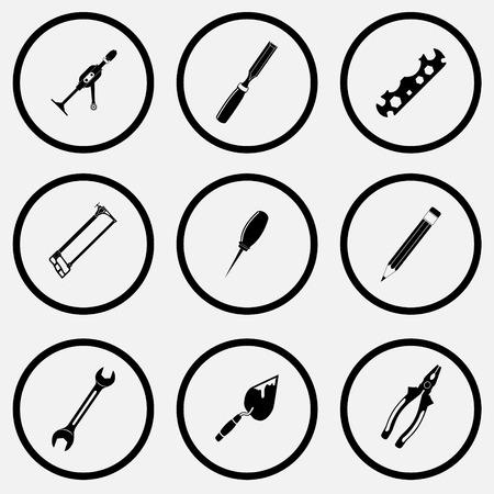 unicoloured: Angular set. Black and white set  Illustration