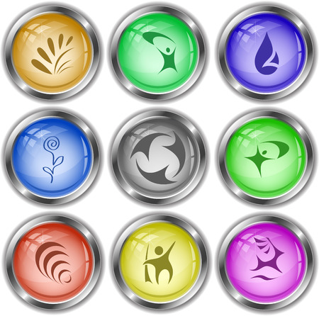internet buttons: Abstract set. Vector internet buttons. Illustration