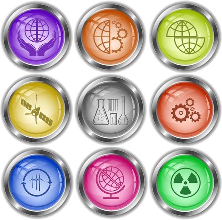 internet buttons: Science set. Vector internet buttons. Illustration