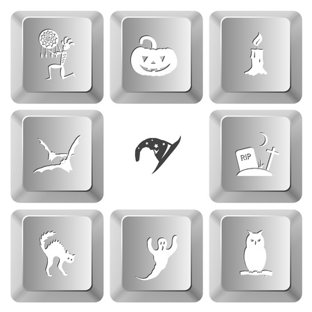 computer keys: Mystic signs set. Vector set computer keys. Illustration