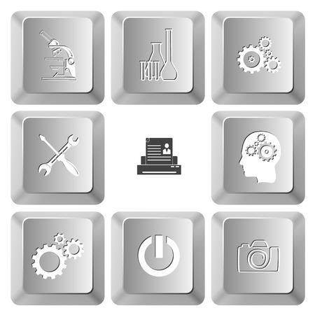 tehnology: Tehnology set. Vector set computer keys.