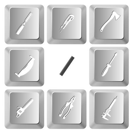 computer keys: Angularly set. Vector set computer keys.