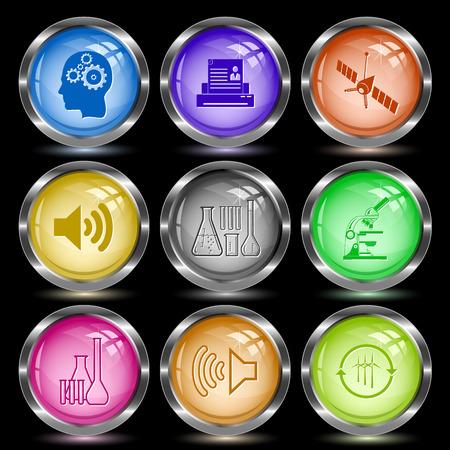 tehnology: Tehnology set. Internet button. Vector illustration.