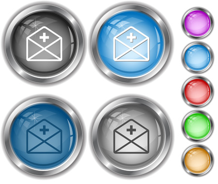 internet buttons: mail plus. Internet buttons.