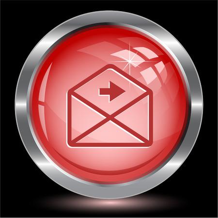 right arrow: mail right arrow. Internet button. Vector illustration. Illustration