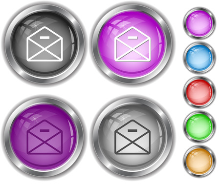 internet buttons: mail minus. Internet buttons. Illustration