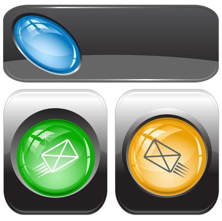 internet buttons: send mail. Vector internet buttons.