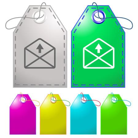 up arrow: mail up arrow. Vector tags.