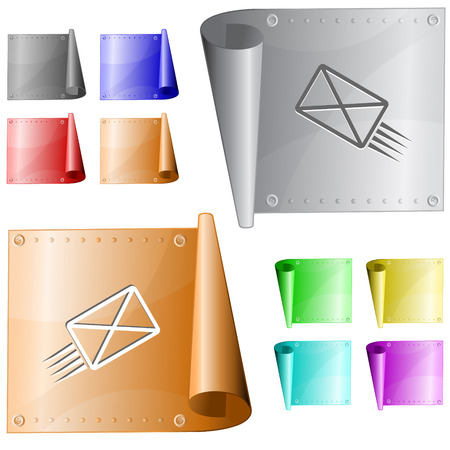 metal surface: send mail. Vector metal surface.