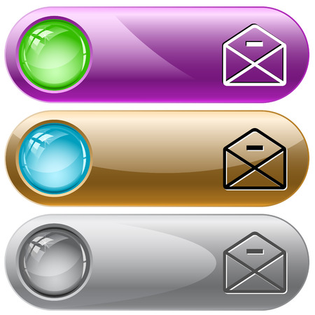 minus: mail minus. Vector internet buttons.
