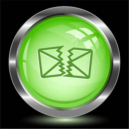 defective: defective mail. Internet button. Vector illustration.