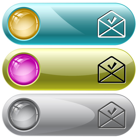 internet buttons: mail ok. Vector internet buttons.