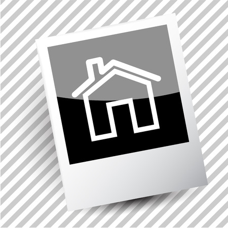fume: home. Photoframe. Vector icon. Illustration