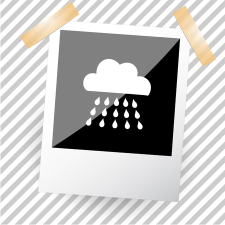 precipitation: rain. Photoframe. Illustration